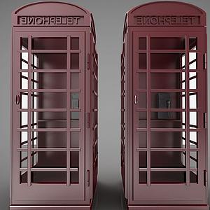 電話亭模型
