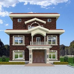 歐式別墅外觀模型