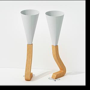 現代腳型落地燈模型