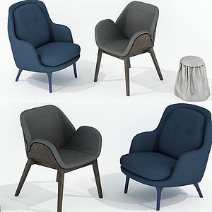 3d現代休閑椅子<font class='myIsRed'>家居</font>椅組合模型