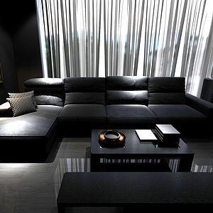 3d室內沙發模型