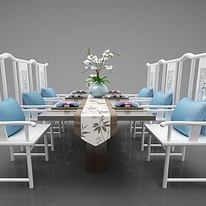 3d<font class='myIsRed'>餐桌</font>組合模型
