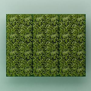 綠植背景墻模型