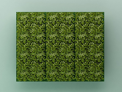 3d綠植背景墻模型