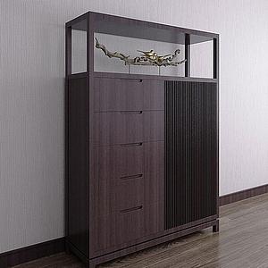 新中式儲藏柜模型