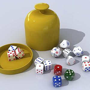 現代骰子賭具3D模型