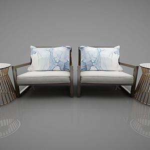 3d小沙發模型