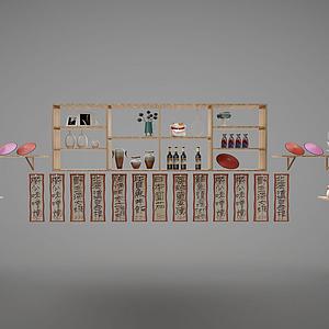 貨架酒架組合模型