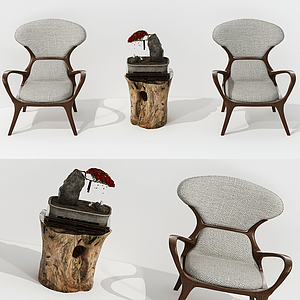 3d<font class='myIsRed'>新中式</font>茶幾椅組合模型