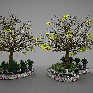 園林小品模型