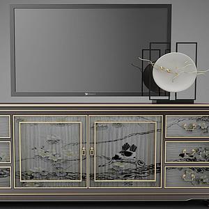 新中市風格餐桌家具模型