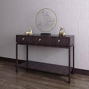 新中式裝飾柜模型