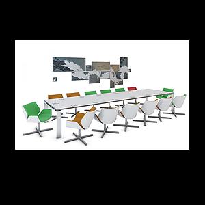 3d會議桌模型