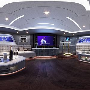 娱乐室全景模型