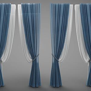 歐式窗簾模型