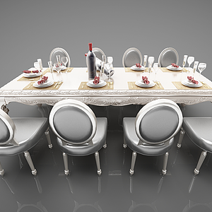 3d歐式<font class='myIsRed'>餐桌</font>模型