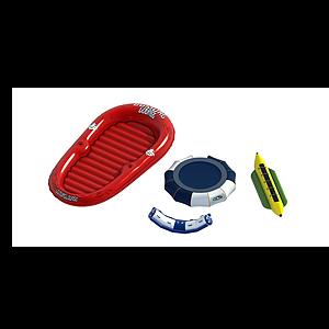 充氣皮艇香蕉船充氣蹦床模型