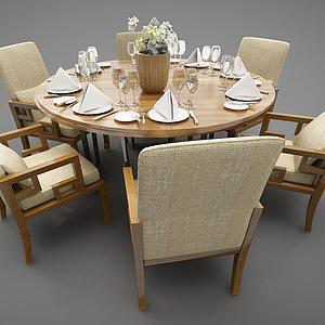 餐桌組合模型