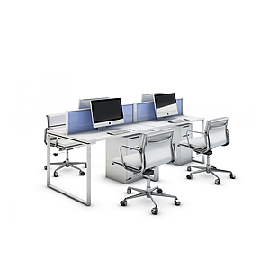 3d現代<font class='myIsRed'>辦公桌</font>工位模型