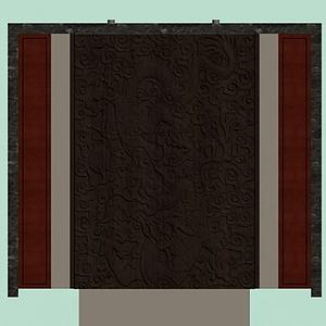 3d浮雕背景墻模型