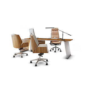 3d老板臺辦公桌模型