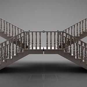 3d樓梯實木模型