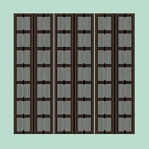 3d木质壁纸<font class='myIsRed'>屏风</font>模型