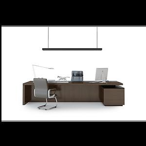 老板臺辦公桌模型