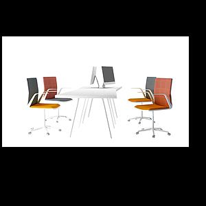 3d<font class='myIsRed'>辦公桌</font>椅工位模型