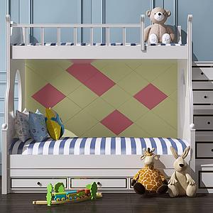 3d上下鋪<font class='myIsRed'>兒童床</font>模型