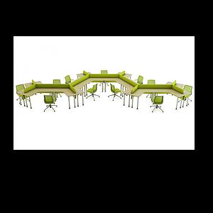 3d現代辦公桌工位模型