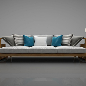 3d<font class='myIsRed'>新中式</font>风格的沙发模型