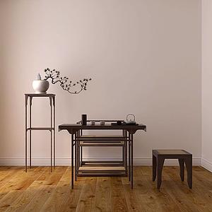 中式宋代家具模型