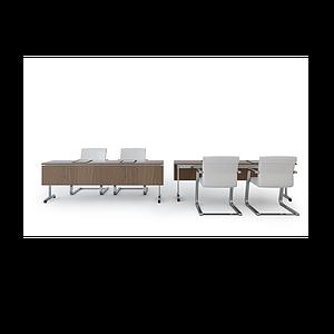 會議桌椅子組合模型