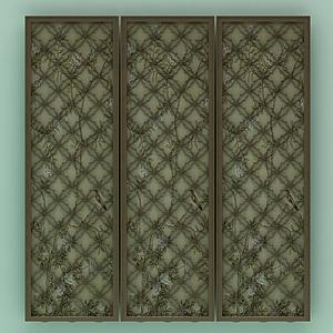 3d木质壁画<font class='myIsRed'>屏风</font>模型