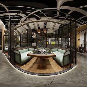 餐廳全景模型