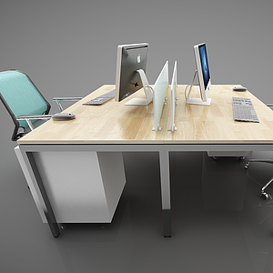 3d<font class='myIsRed'>辦公桌</font>椅子組合模型