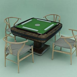現代風格麻將桌模型