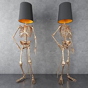 骷顱落地燈模型