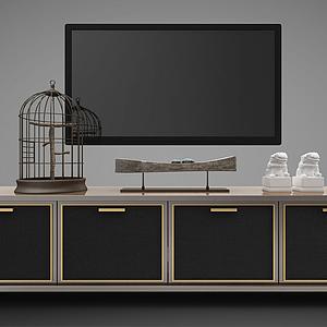 中式電視柜模型