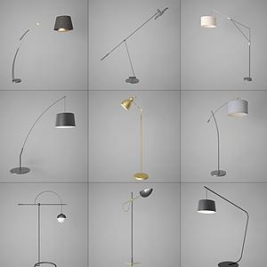 現代風格落地燈模型