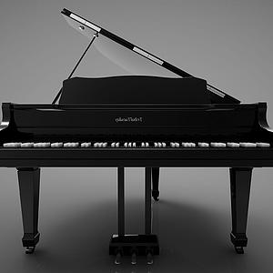 3d<font class='myIsRed'>新中式</font>风格的钢琴模型