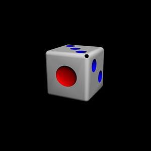 3d骰子模型