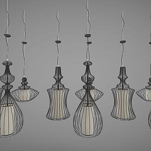3d現代風格的吊燈模型