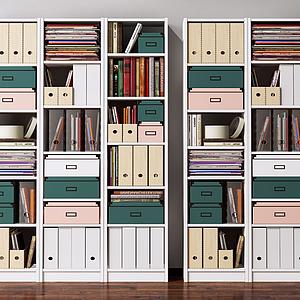 3d現代北歐書柜模型