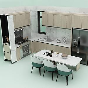廚房餐廳模型
