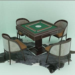 麻將桌模型