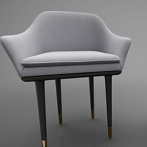 3d現代風格餐椅模型