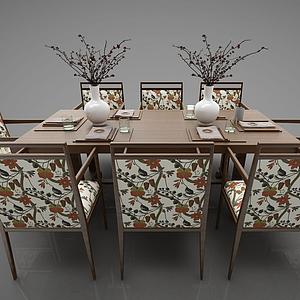 3d現代風格餐桌模型