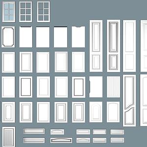 現代簡約門組合門模型